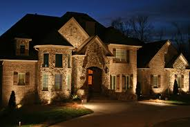 Light Up Outside Photo Image Exterior House Lighting