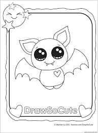 Coloring Pages Bats Bat Draw So Cute