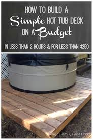 Best 25+ Hot Tub Patio On A Budget Ideas On Pinterest | Patio ... Hot Tub On Deck Ideas Best Uerground And L Shaped Support Backyard Design Privacy Deck Pergola Now I Just Need Someone To Bulid It For Me 63 Secrets Of Pro Installers Designers How Install A Howtos Diy Excellent With On Bedroom Decks With Tubs The Outstanding Home Homesfeed Hot Tub Pool Patios Pinterest 25 Small Pool Ideas Pools Bathroom Back Yard Wooden Curved Bench
