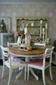 Shabby Chic Dining Room Hutch by Shabby Chic Round Dining Table And 4 Chairs For The Home Dining