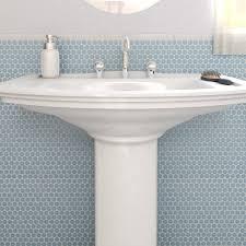 somertile 12x12 625 in light blue porcelain mosaic floor and