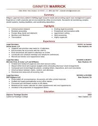 Resume Examples Templates Writing Legal Assistant Cover Letter