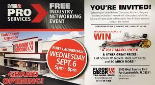 Floor And Decor Pompano Beach by Event Wednesday Sept 6 Floor U0026 Decor Grand Opening U2014 Plywood Express