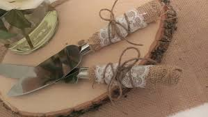 Rustic Wedding Cake Cutting Country Knife Serving With Knives Decorated