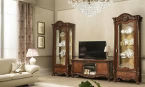 details zu wohnzimmer komplett set 3 teile holz glas nussbaumfarbe klassisch italienisch