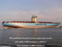 plus gros porte avion du monde le plus gros porte containers du monde