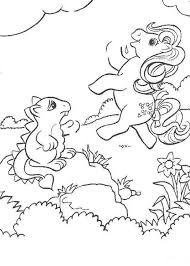 My Little Pony And Strange Animal Coloring Page This Would Make A Cute Present For Your Parents