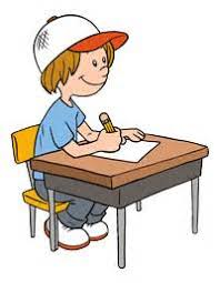 Student Working At Desk Clipart ClipartXtras