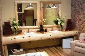 Small Rustic Bathroom Vanity Ideas by Bathrooms Design Spiral Pendant Lamps Small Rustic Bathroom