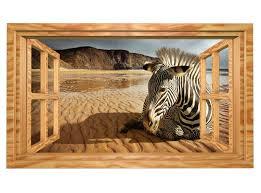 3d wandmotiv zebra afrika wüste sand fenster blick wandbild selbstklebend wandtattoo wohnzimmer wand aufkleber 11e434 3dwandtattoo24 de