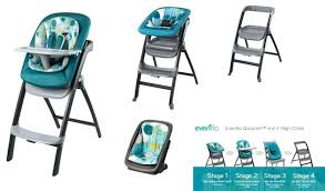 Evenflo Quatore 4-In-1 High Chair - Deep Lake