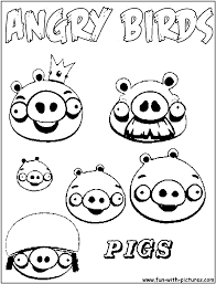 Angry Birds Pigs Coloring Pages Pictures Of The Three Little To Color Large Size