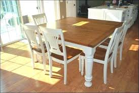 Farmhouse Dining Room Table Diy With Leaves Decor White Set Bench Kitchen Magnificent W