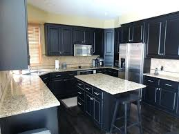 Navy Kitchen Cabinets Kitchens With Dark Inspiration Idea Flooring Ideas