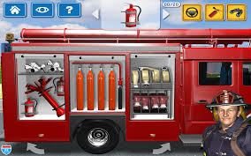 Kids Vehicles 1: Interactive Fire Truck - Animated 3D Games Fire ...
