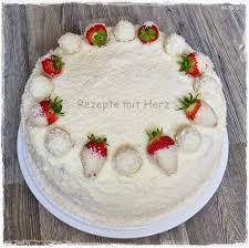 erdbeer raffaello torte thermomix rezepte mit herz