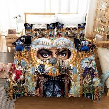 michael jackson schlafzimmer geschenk bettwäsche set vintage mode 100 microfibe 1pc duvet abdeckung mit kissenbezüge kein tröster drop schiff