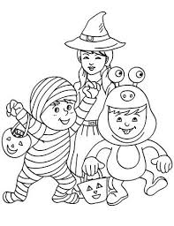 Free Kids Halloween Printable Coloring Pages
