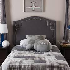 Diamond Tufted Headboard With Crystal Buttons by Baxton Studio Rita Gray Queen Headboard 28862 6421 Hd The Home Depot