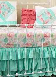 mint mosaic bumperless baby bedding set lottie da baby baby