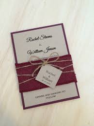 Rustic Wedding Invitation Burlap WeddingSpecialties