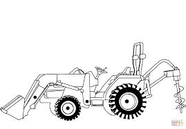 Coloriage De Tracteur John Deere Tranquille 41 Elégant Tracteur