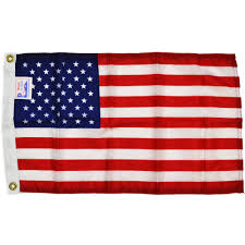 American Flag 3 X 5 Reliance Cotton With Sewn Stripes Dyed