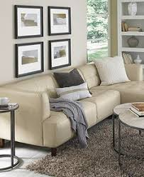 martino leather 3 piece chaise sectional sofa beach house living