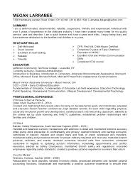 Child Care Resume Objective Archives