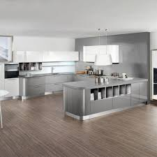 stylish and cool gray kitchen cabinets for your home inside light