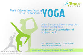 Yoga Classes Flyer Template