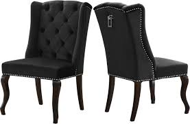 2 Meridian Furniture Suri Black Velvet Dining Chairs   The Classy Home Amazoncom Hcom 44 Tufted High Back Velvet Upholstered Accent White Or Black Leather Ding Chairs With Chrome Legs And Linx Sleek Chair Deals Ranger With Arms Blackgrey Fabric Stuart Dunn Scoop Leg Hlingdal 65 Blackwhite Chairs Colorschemes That Rock In 2019 Caline Breeze Highback Chair Black Finnish Design Shop Home Decators Collection 215 X Sunbrella Cast Teak Steelcase Turnstone Executive 319 Used Nilkamal Blaze Highback Black Fniture Ozark Trail Folding Head Rest Fuchsia Classical High Back Smoking Patent Leather