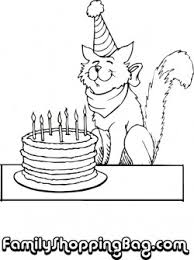 Cat And Cake Coloring Pages