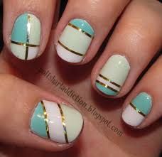 Cool Easy Nail Designs With Tape Trend manicure ideas 2017 in