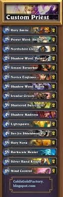 priest deck hearthstone my top hearthstone deck priest card draw cold s gold factory