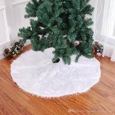 Christmas Tree Skirt Snow White Plush Xmas Skirts Fashion Indoor Decorations BH18076
