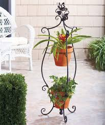 Outdoor Patio Plant Stands by New 2 Tier Indoor Outdoor Garden 2 Tier Butterfly Plant Stand