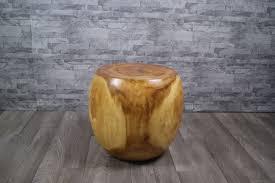 massiv suar akazienholz deko 42cm wohnzimmer baumstamm nachttisch hocker holztisch telefontisch couchtisch beistelltisch g084