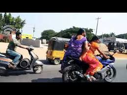 Married Women Triple Riding On Race Bike