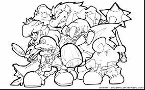 Stunning Super Mario Characters Coloring Pages With Cool And Designs