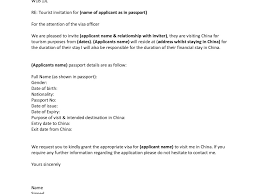 Sample Invitation Letter For Tourist Visa Application Gallery
