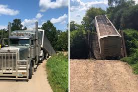 100 Southwest Truck And Trailer North Dakota Bridge Crumbles Under The Might Of A