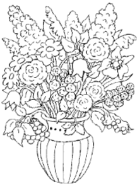 Coloring Pages For Adults Flower Bouquet At Design Desktop