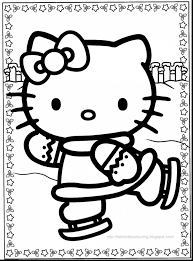 Astonishing Hello Kitty Christmas Coloring Pages With And