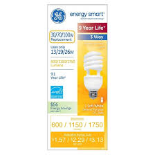 ge 30 70 100 watt 3 way cfl light bulb soft white target