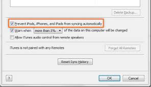 How to Stop iTunes Auto Syncing When You Connect iPhone iPad or