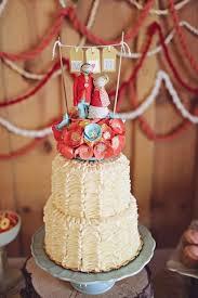 Rustic Ruffles Wedding Cake