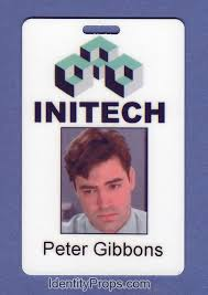 Office Space Intech Peter Gibbons ID Card