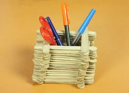 How To Make Pen Stand With Popsicle Sticks