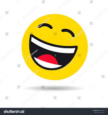 Laughing Emoji No Background Inspirational Big Smiling Emoticon Symbol Happy Yellow Stock Vector Royalty Free
